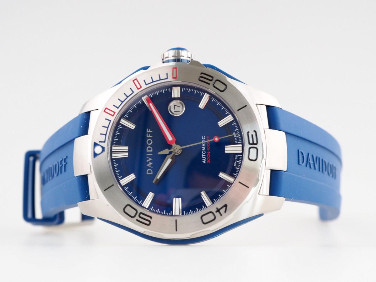 Швейцарские часы Davidoff Velocity Diver Blue Dial Rubber Strap