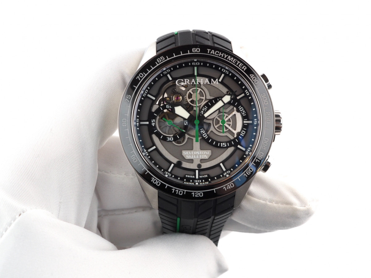 Швейцарские часы Graham Silverstone RS Skeleton Green