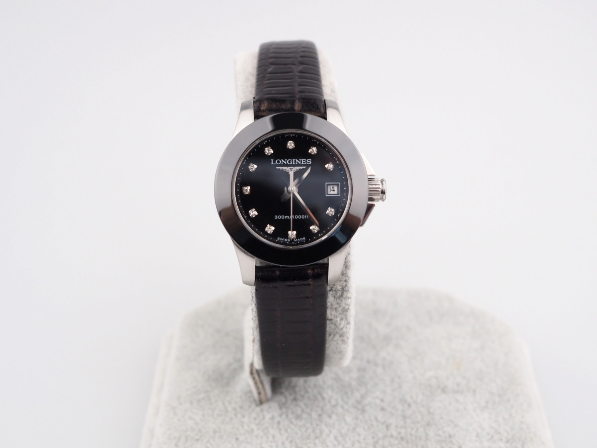 Швейцарские часы Longines Conquest Quartz 25 Ceramic