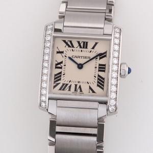 Швейцарские часы Cartier Tank Diamonds Medium