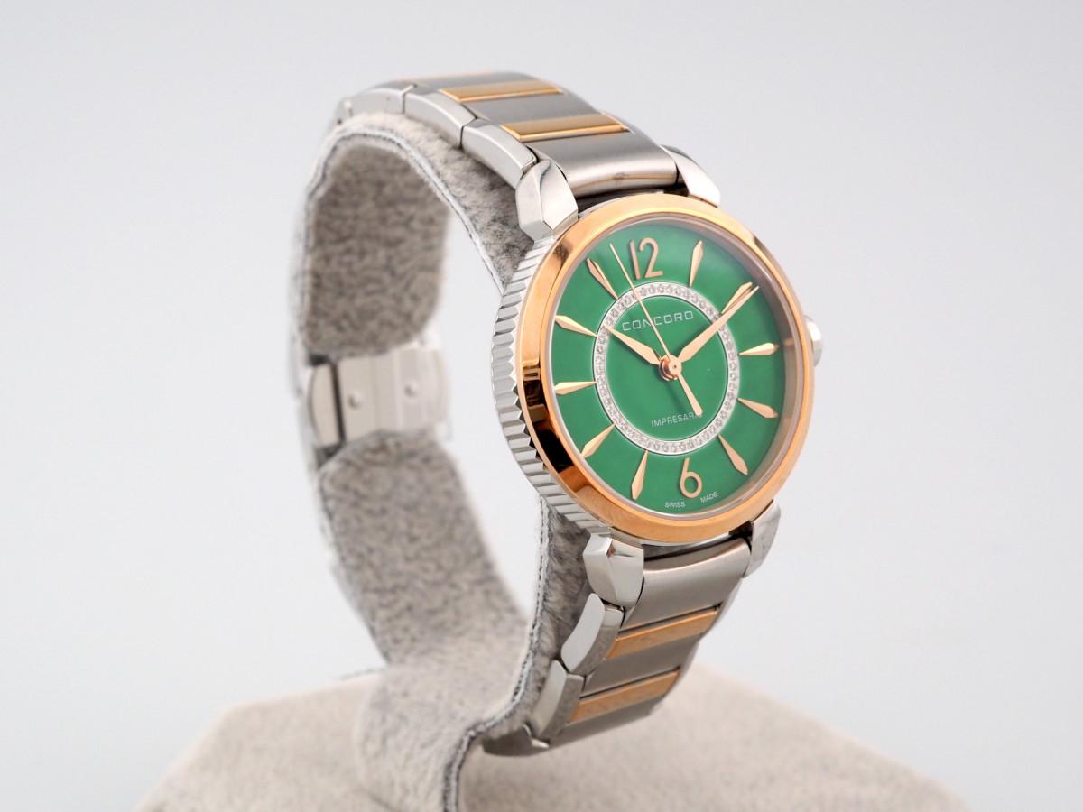Швейцарские часы Concord Impresario Diamond Green MOP Dial