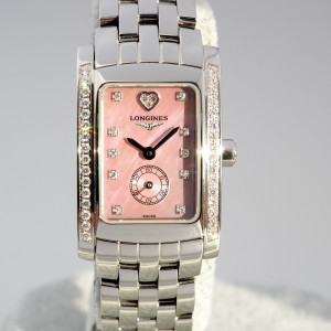 Швейцарские часы Longines DolceVita Pink Mother of Pearl Diamond Dial