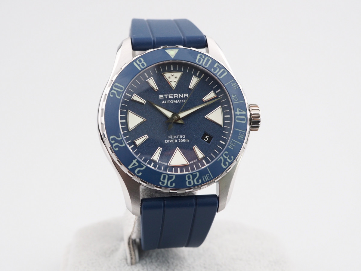 Швейцарские часы Eterna KonTiki Diver Blue Ceramic
