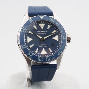 Швейцарские часы Eterna KonTiki Diver Blue Ceramic