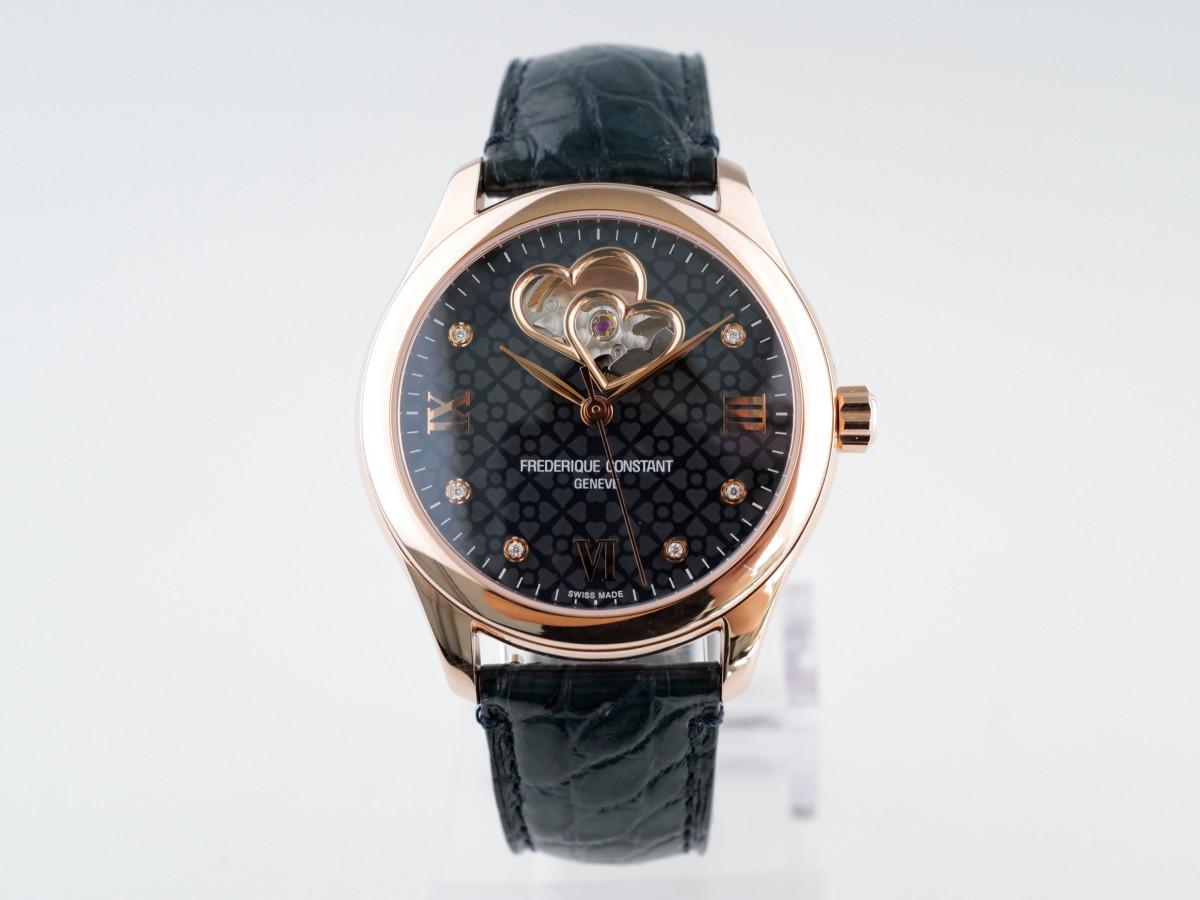 Швейцарские часы Frederique Constant Double Heartbeat Navy Diamond