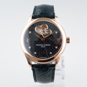 Швейцарские часы Frederique Constant Double Heartbeat Navy Diamond