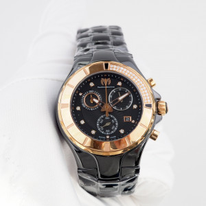 Швейцарские часы Technomarine Chronograph Cruise Black Diamonds