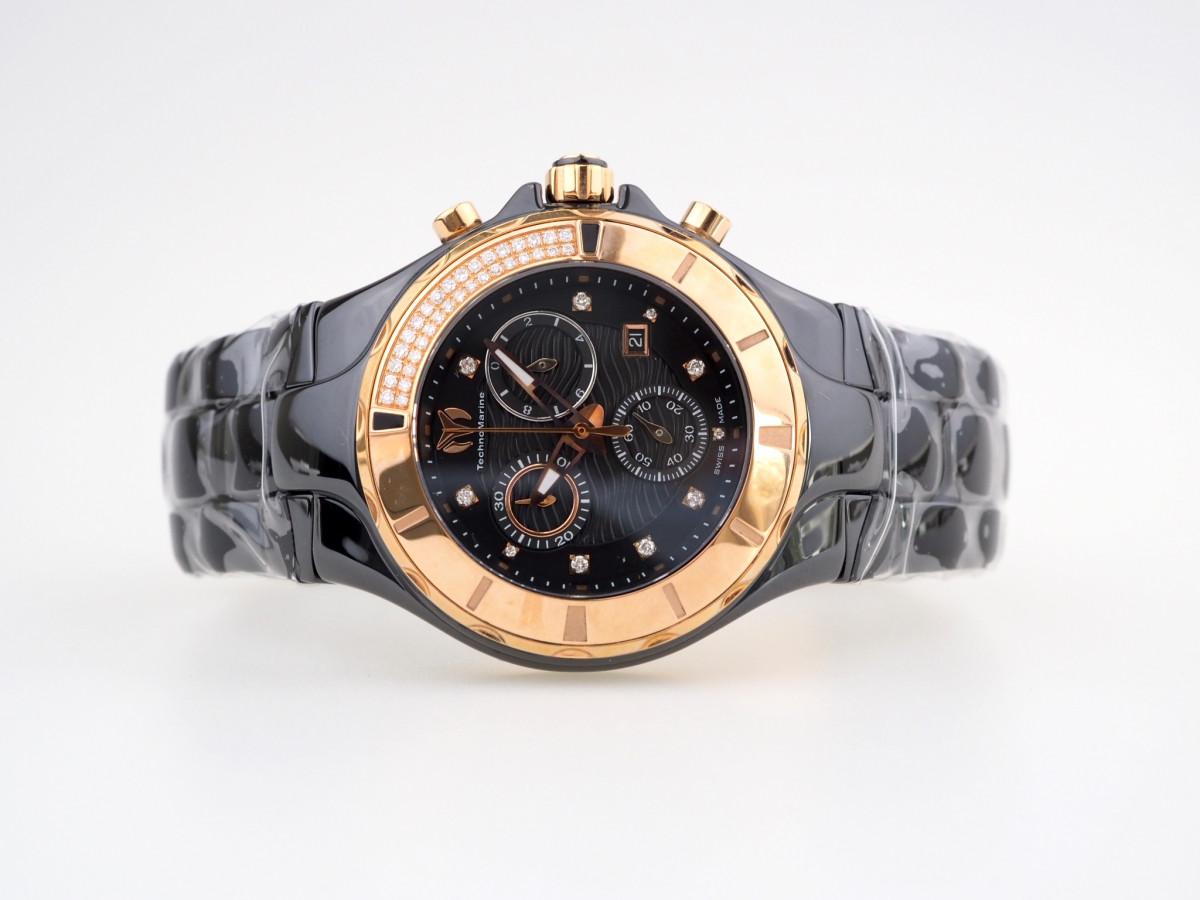 Швейцарские часы Technomarine Chronograph Cruise Black Diamonds