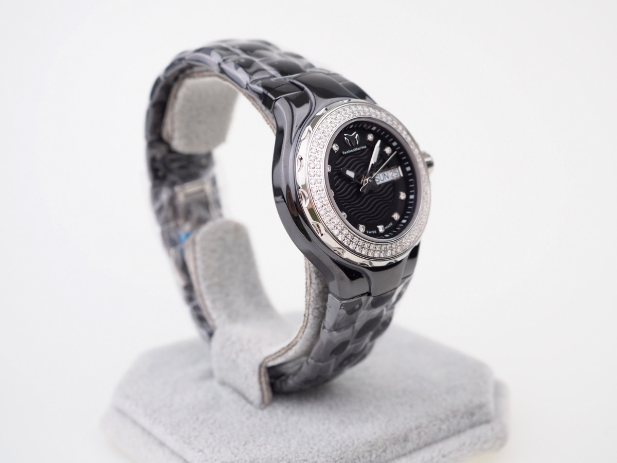 Швейцарские часы TechnoMarine Cruise Black Ceramic Diamonds