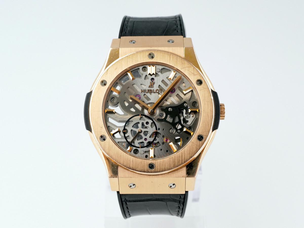 Швейцарские часы Hublot Classic Fusion Ultra Thin Skeleton