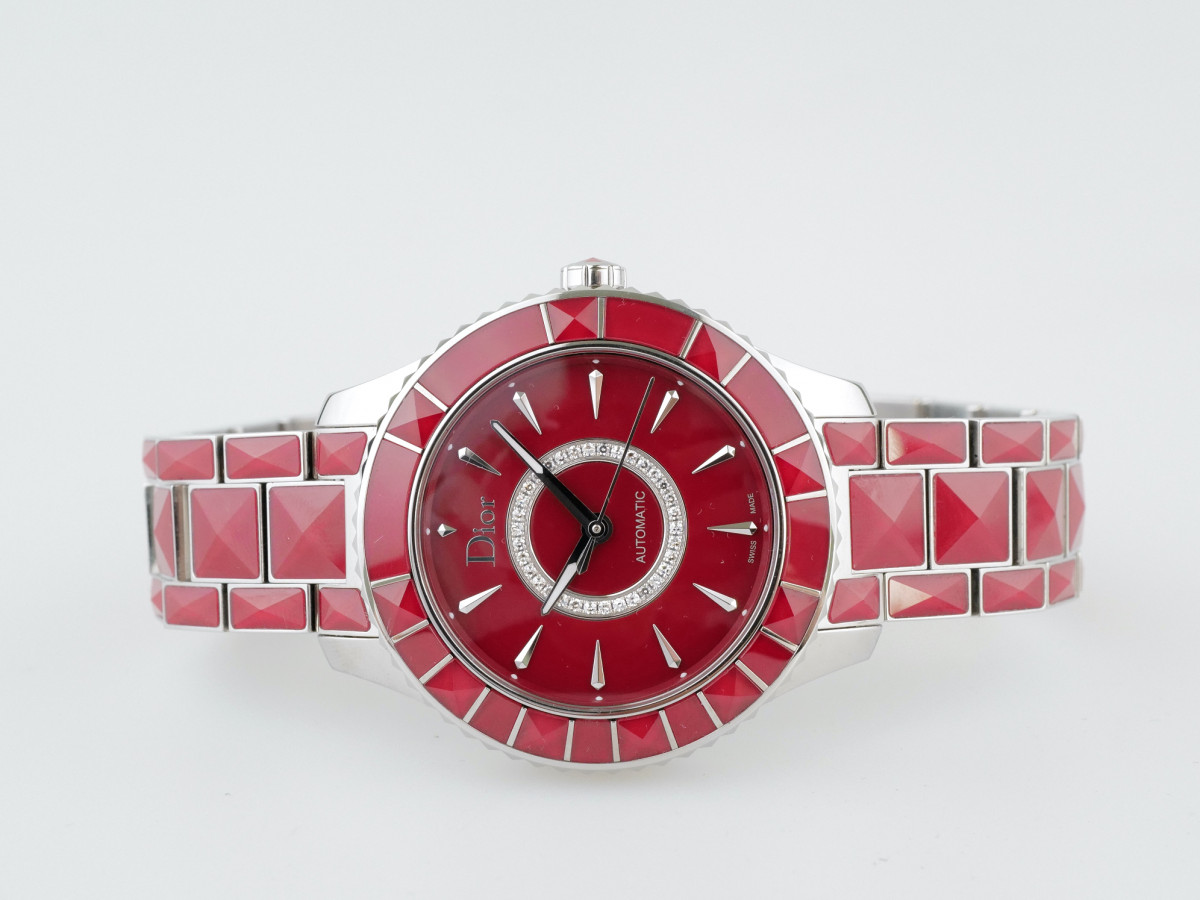 Швейцарские часы Dior Christal Automatic Diamond Red Sapphire