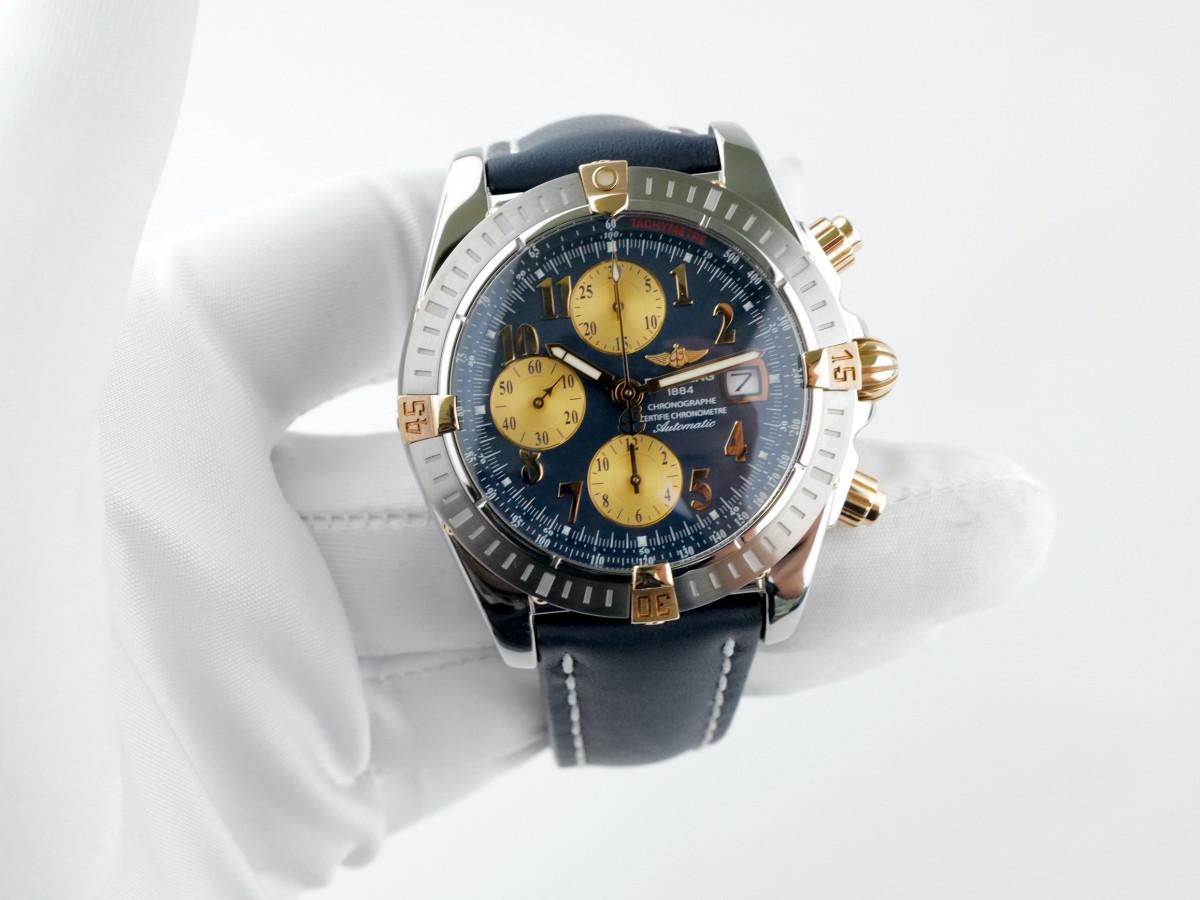 Швейцарские часы Breitling Chronomat Evolution Blue Dial