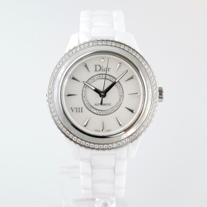 Швейцарские часы Dior VIII White Mother of Pearl Dial Ceramic