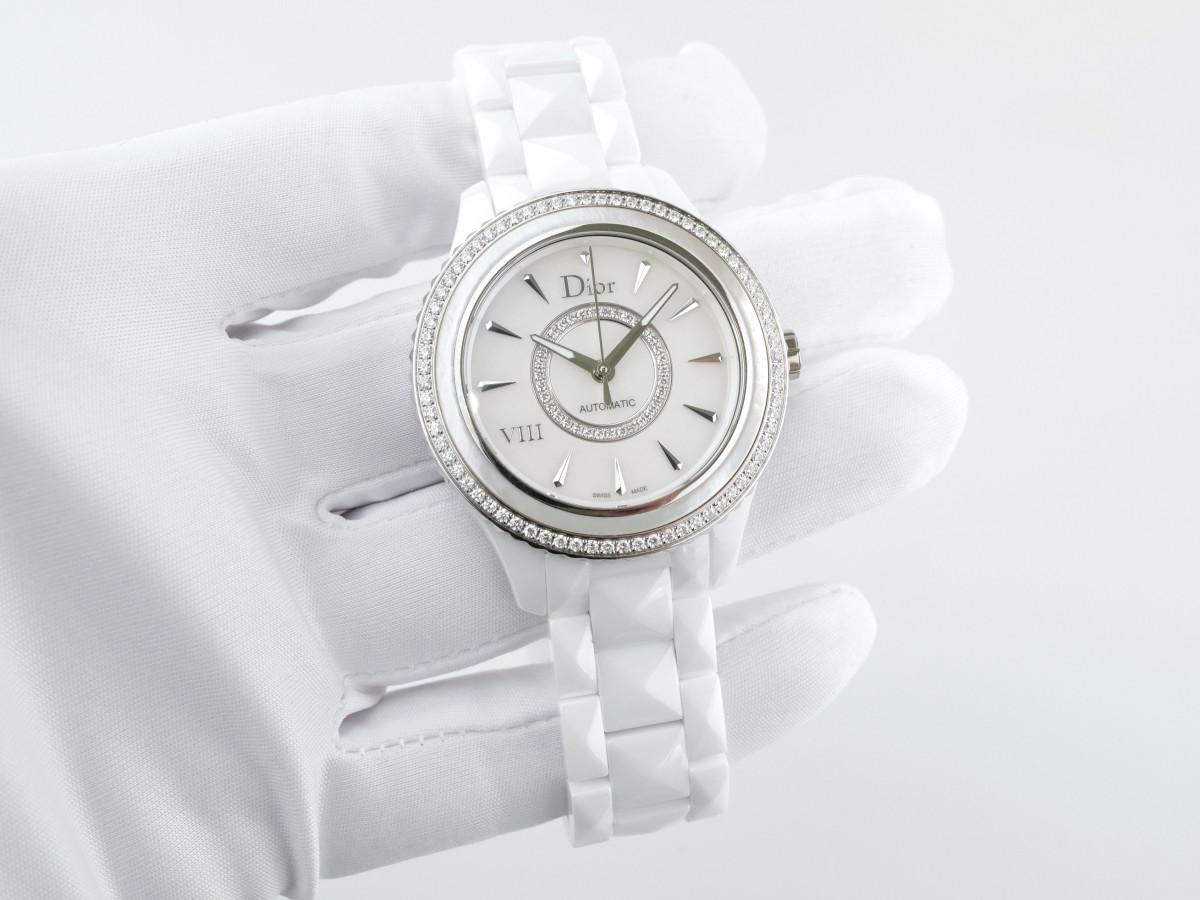 Швейцарские часы Dior VIII White Mother of Pearl Dial Ceramic