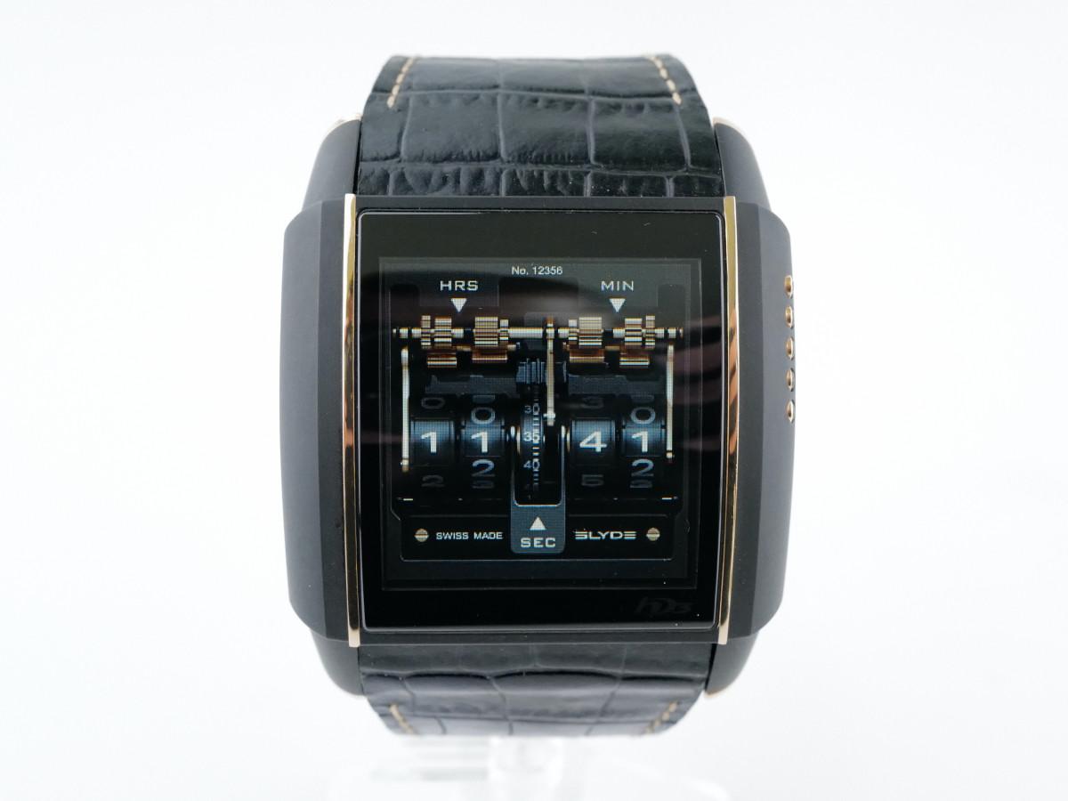 Швейцарские часы HD3 Slyde Full Black & Rose Gold