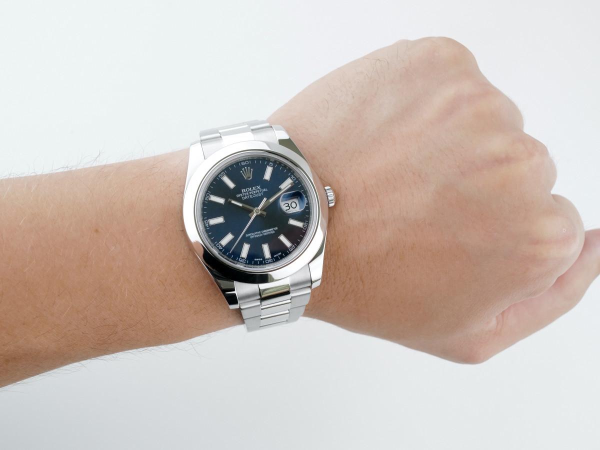 Швейцарские часы Rolex Datejust II 41 Blue Dial