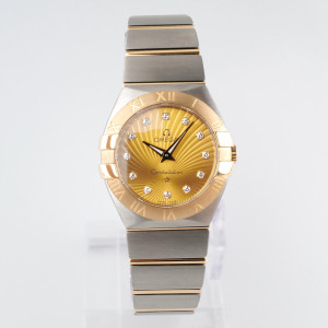 Швейцарские часы Omega Constellation Champagne Diamond Dial
