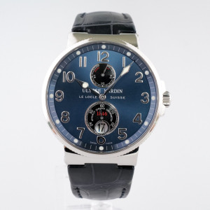 Швейцарские часы Ulysse Nardin Marine Maxi Chronometer Blue Dial Arabic Numerals