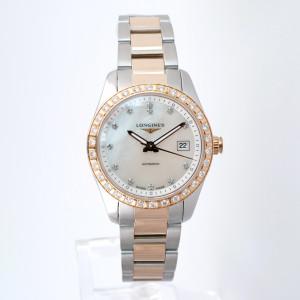 Швейцарские часы Longines Conquest Classic Gold Steel Diamonds