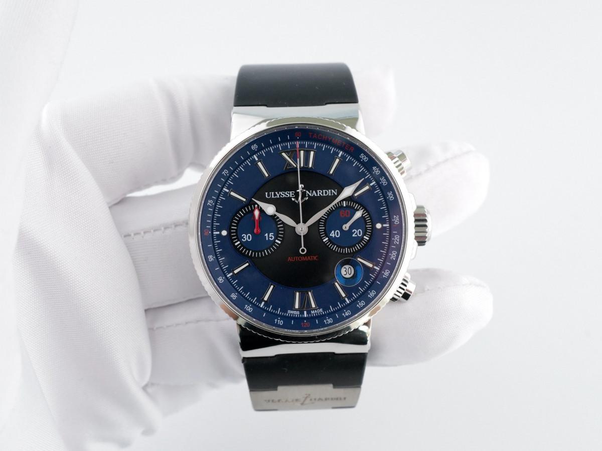 Швейцарские часы Ulysse Nardin Maxi Marine Chronograph Blue Dial