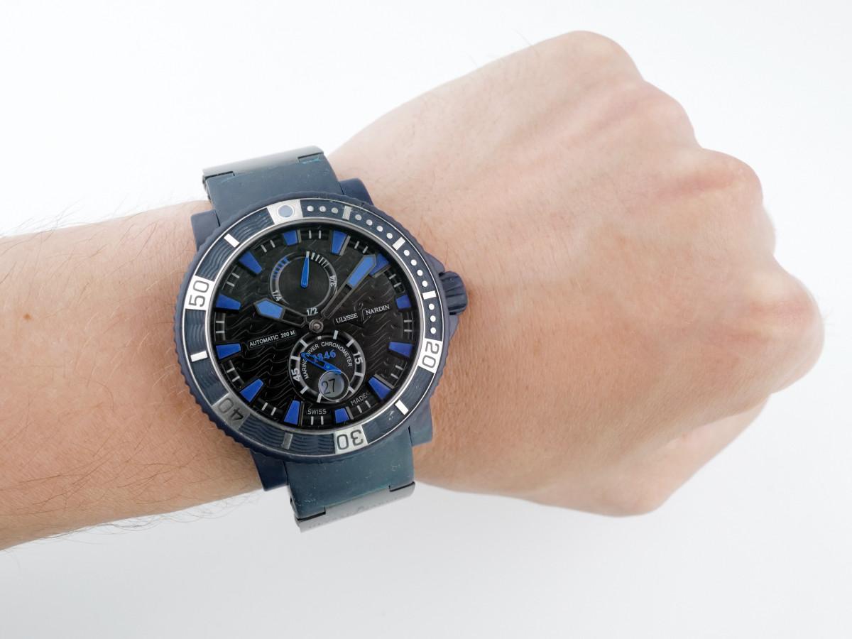 Швейцарские часы Ulysse Nardin Maxi Marine Diver Blue Sea Limited