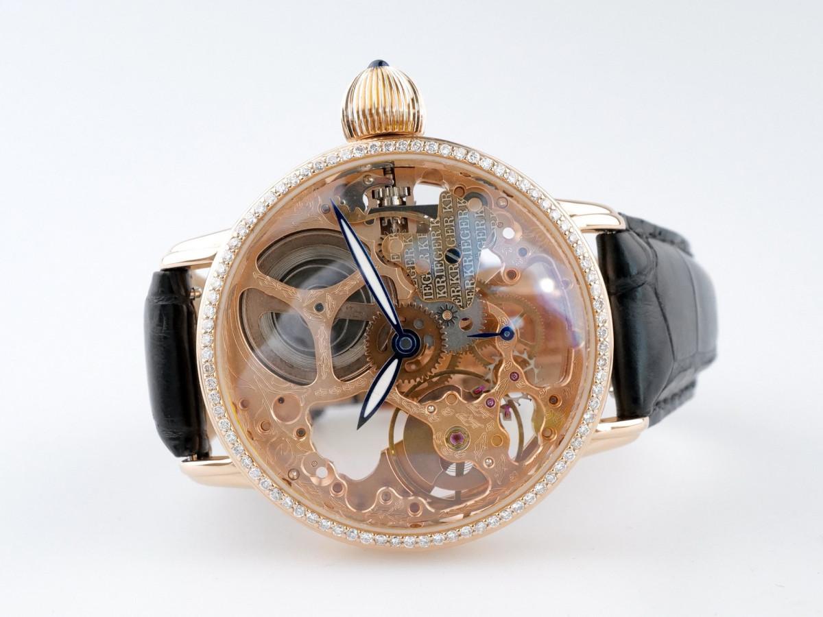 Швейцарские часы Krieger Gigantium Diamonds Skeleton Limited Manual Wind