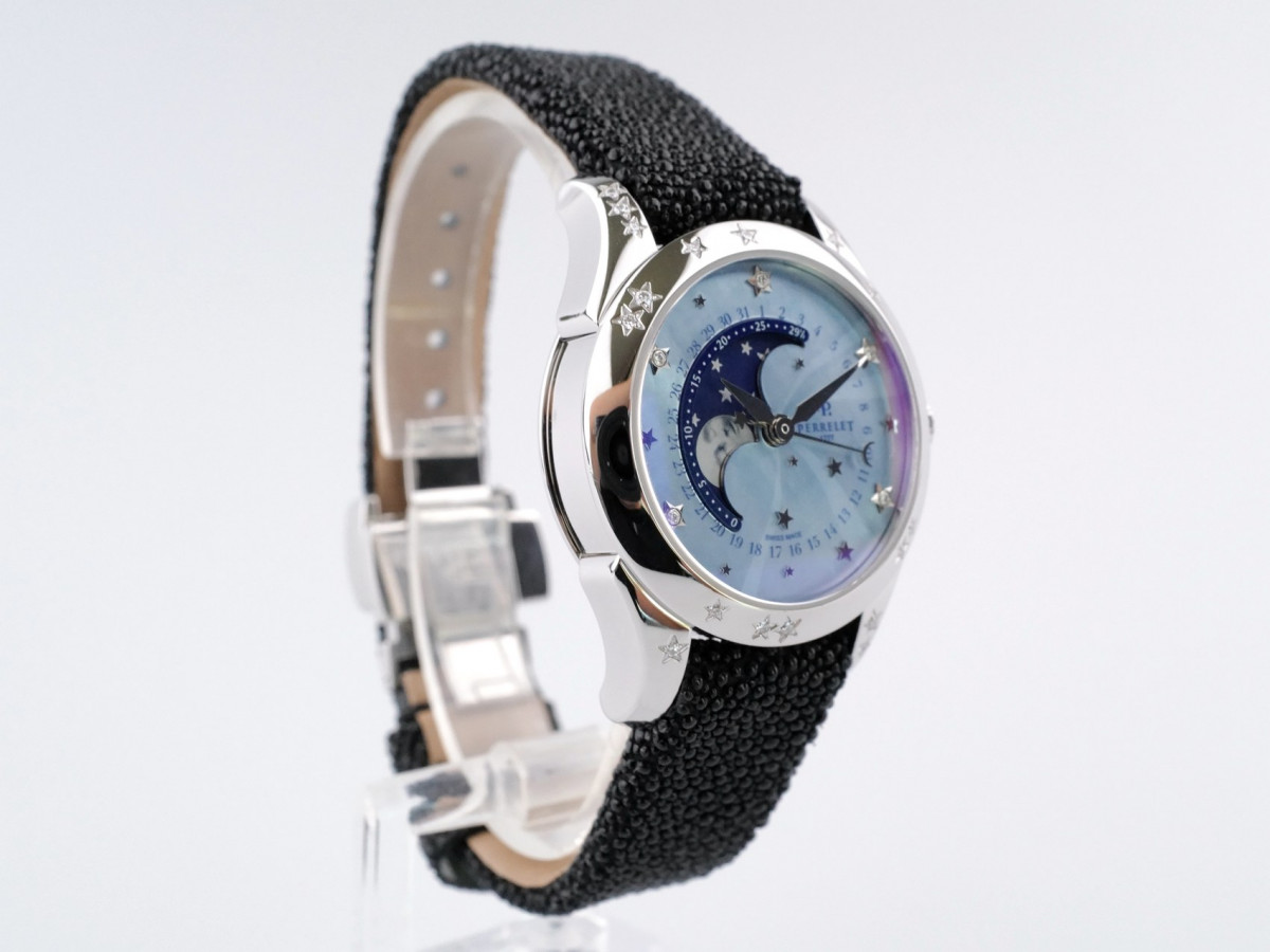 Швейцарские часы Perrelet Diamond Star Mother of Pearl Moon Phase