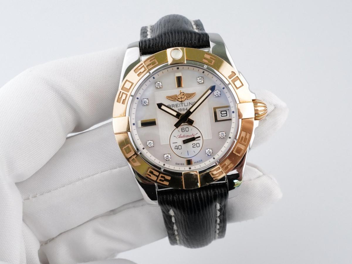 Швейцарские часы Breitling Galactic 36 Automatic Gold Steel Diamonds