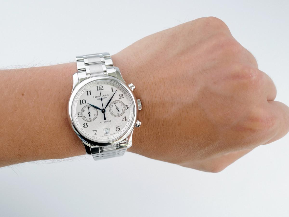 Швейцарские часы Longines Master Collection Chronograph White Dial