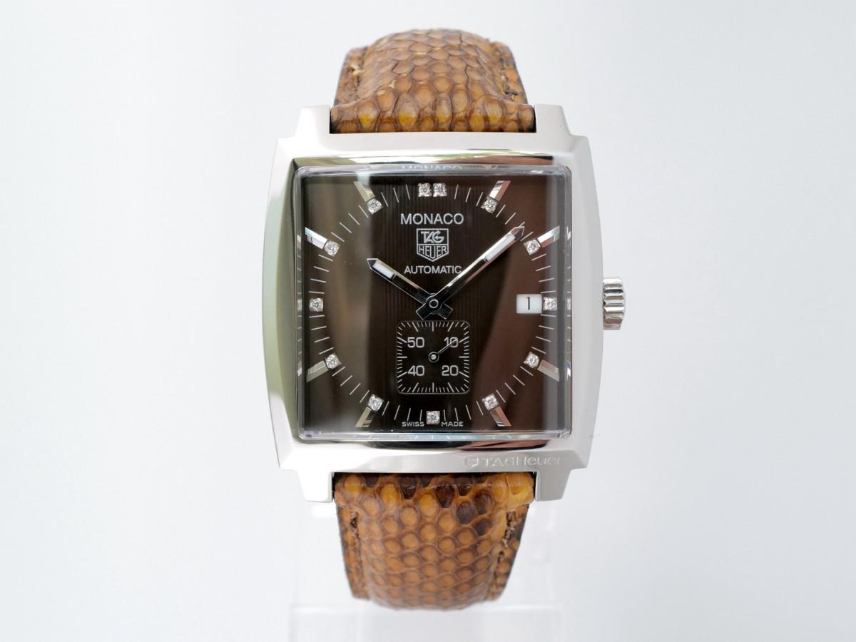 Швейцарские часы Tag Heuer Monaco Automatic Diamond Brown Dial