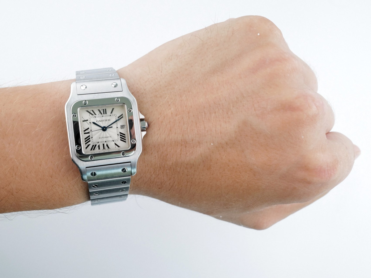 Швейцарские часы Cartier Santos Galbee