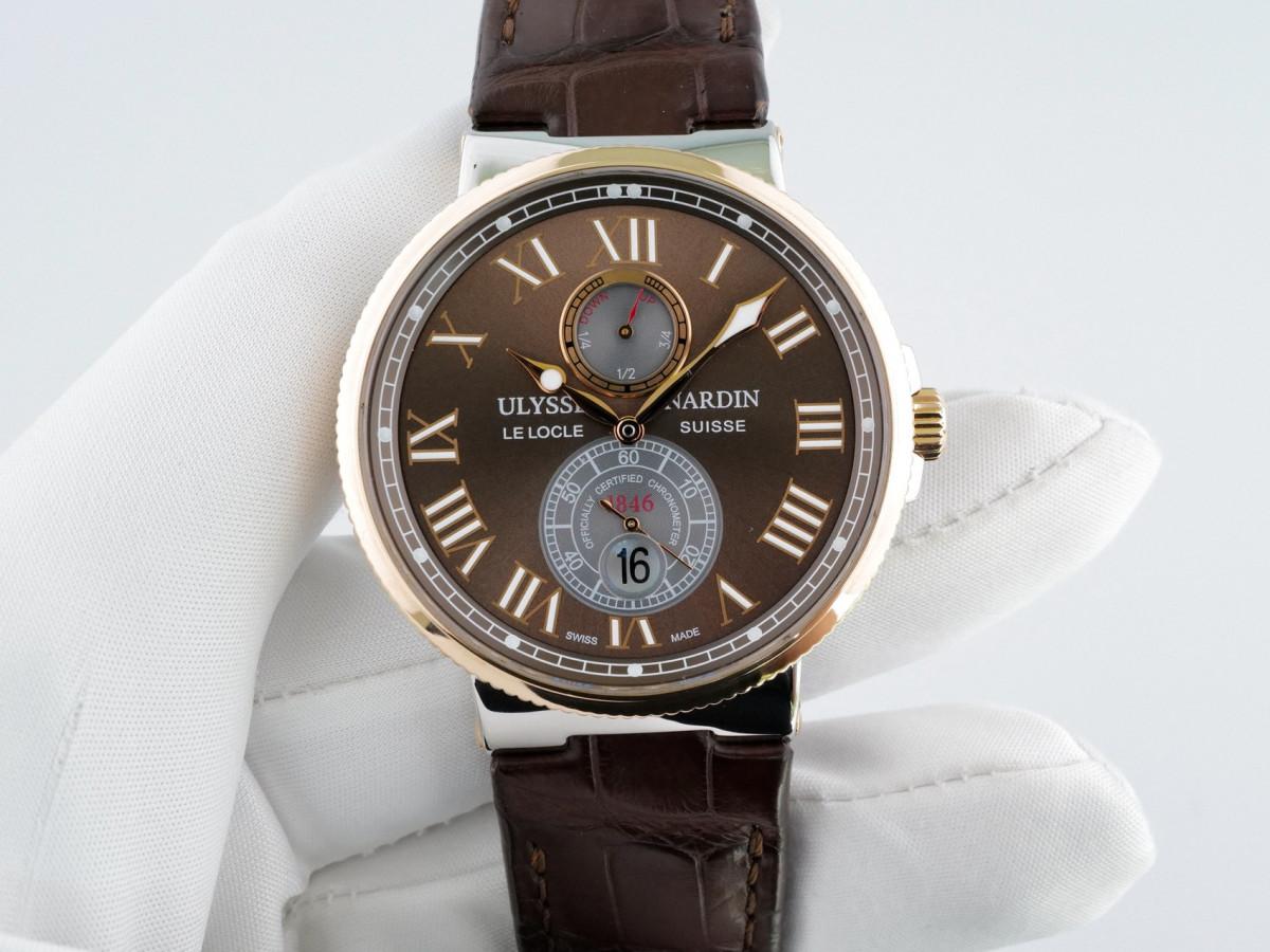 Швейцарские часы Ulysse Nardin Maxi Marine Chronometer 43mm Gold Steel
