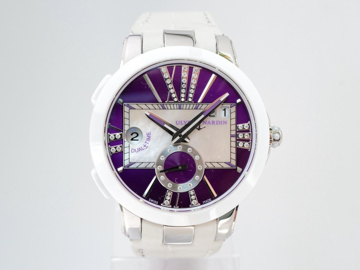 Швейцарские часы Ulysse Nardin Executive Dual Time Purple