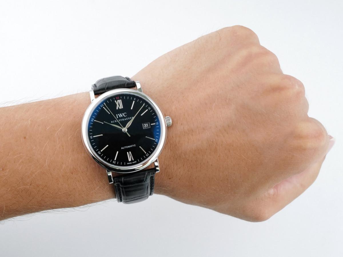 Швейцарские часы IWC Portofino Automatic Black Dial
