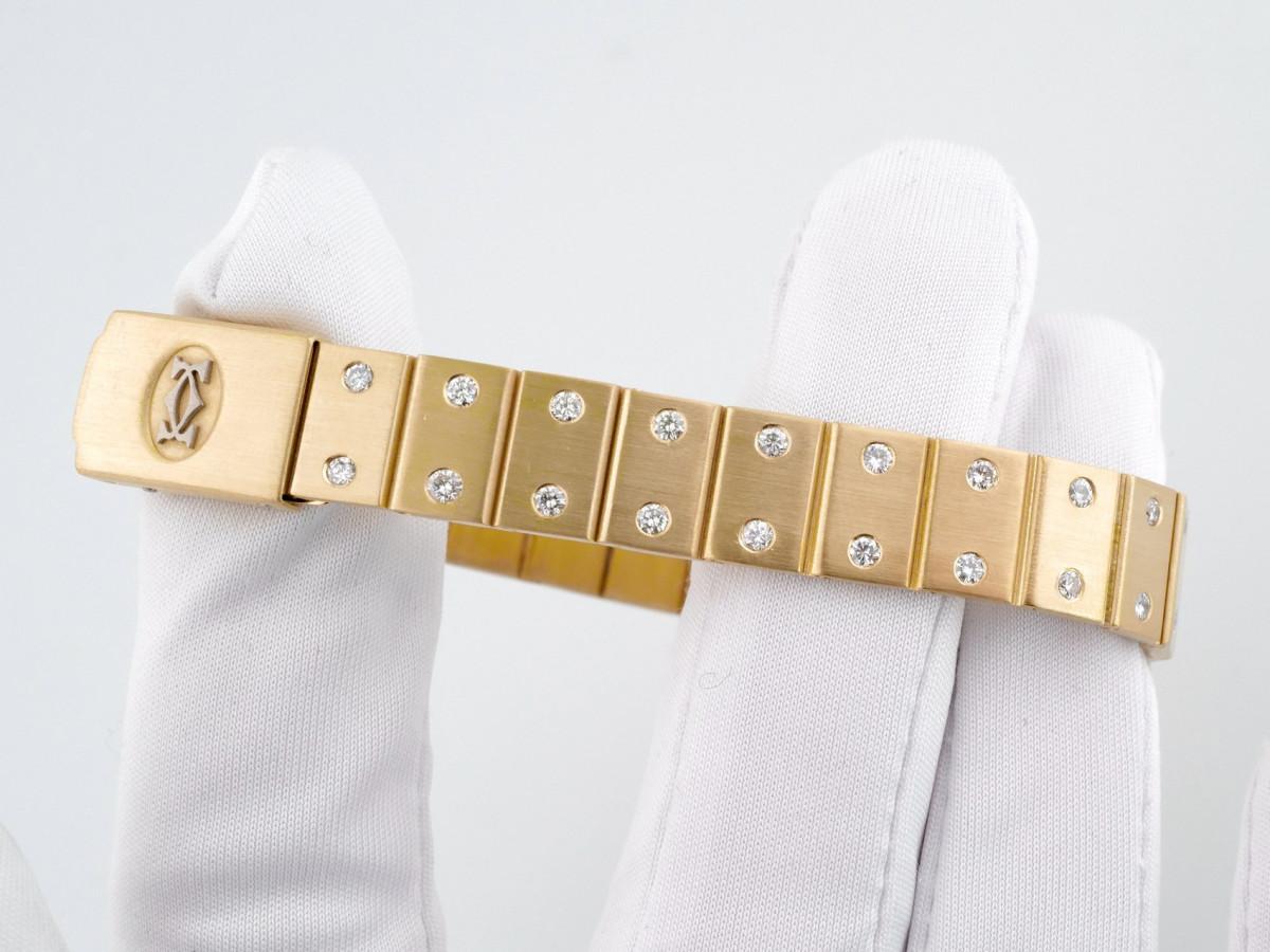 Швейцарские часы Cartier Santos Octagon 18K Yellow Gold Diamonds