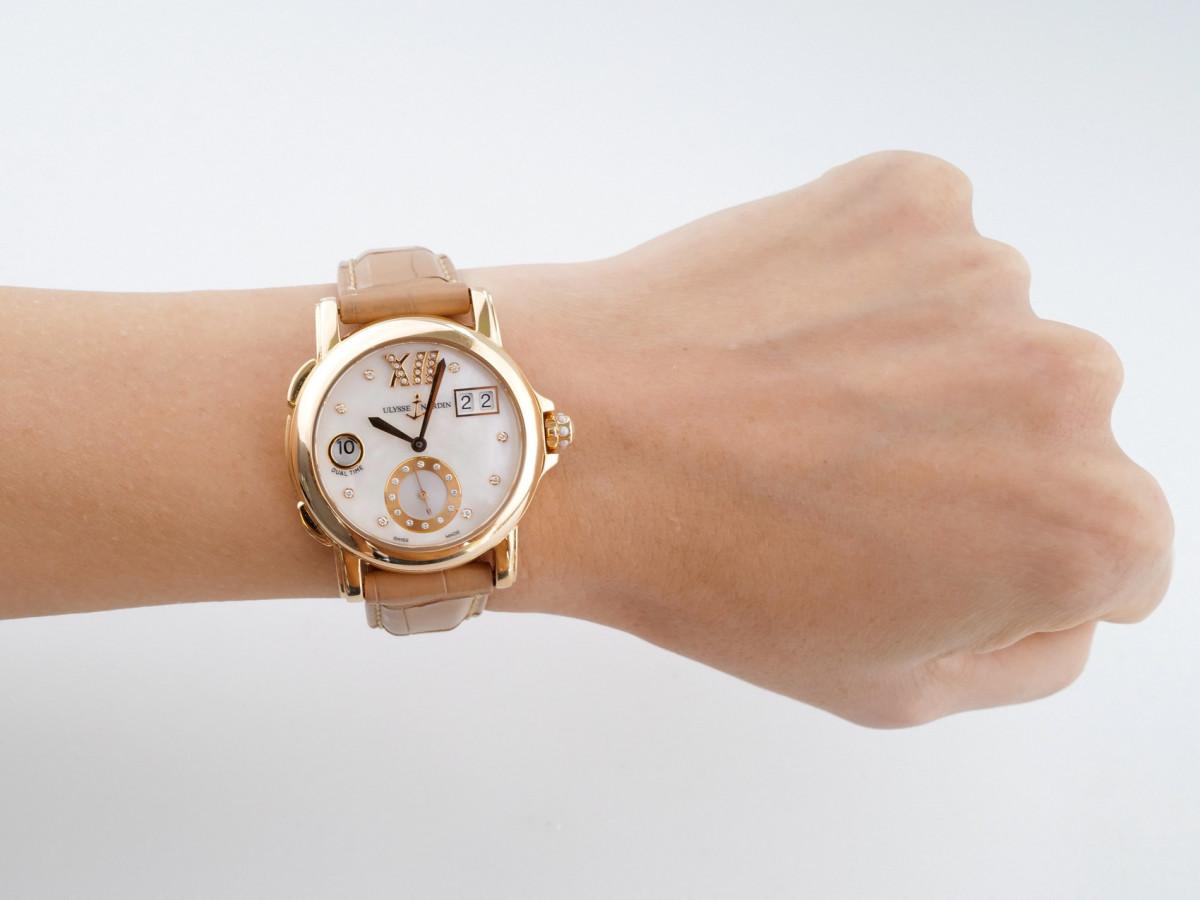 Швейцарские часы Ulysse Nardin Classic Dual Time Ladies Small Seconds 18K Rose Gold