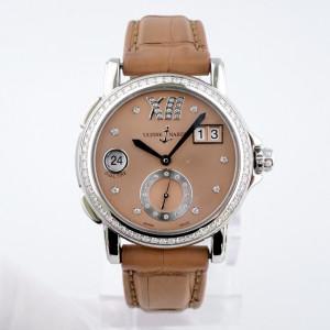 Швейцарские часы Ulysse Nardin Lady Dual Time Big Date Diamond Bezel Brown Dial