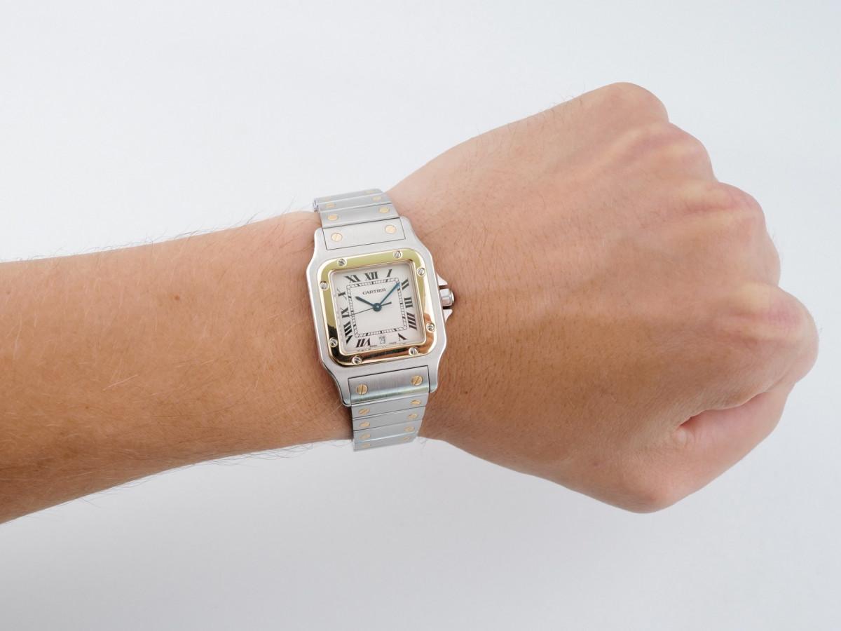 Швейцарские часы Cartier Santos De Cartier Quartz