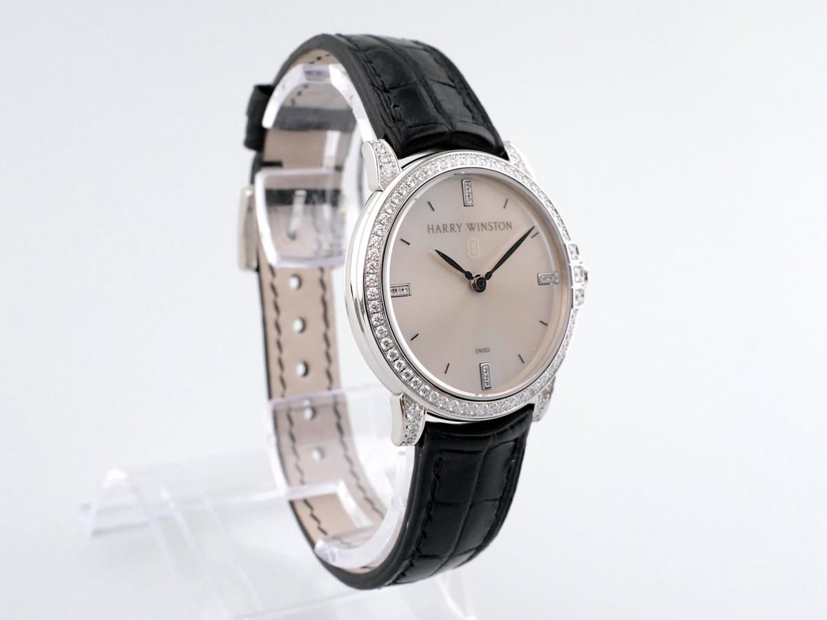 Швейцарские часы Harry Winston Midnight 18K White Gold Diamonds