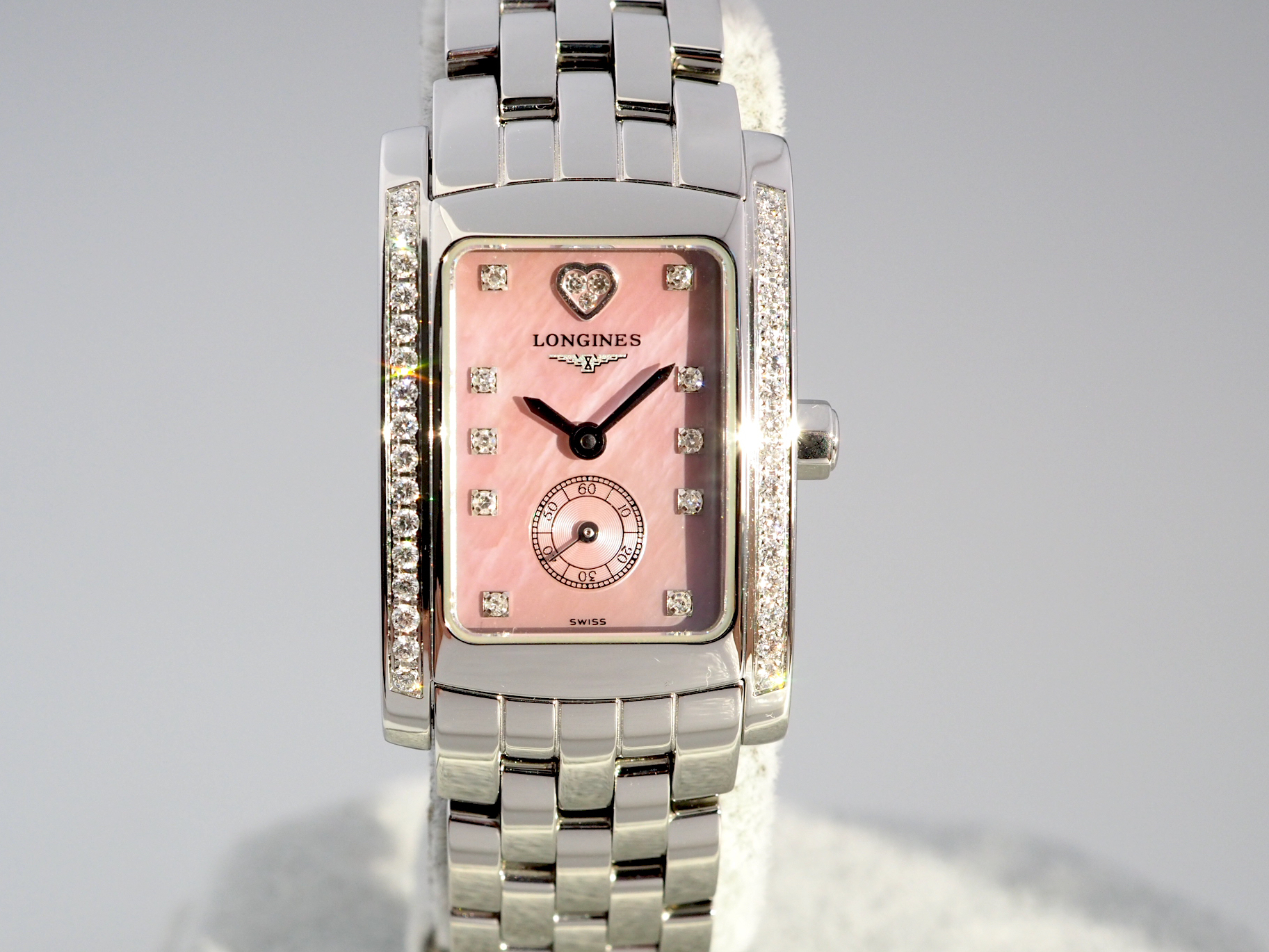 Longines DolceVita Pink Mother of Pearl Diamond Dial